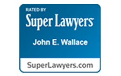 Rated by Super Lawyers John E. Wallace Logo