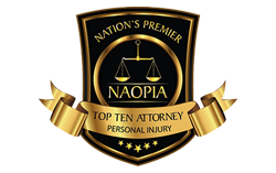 Nation's Premier National Academy of Personal Injury Attorneys Top Ten Attorney Personal Injury Logo