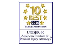 American Institute of Personal Injury Attorneys 10 Best Client Satisfaction 2016 Under 40
